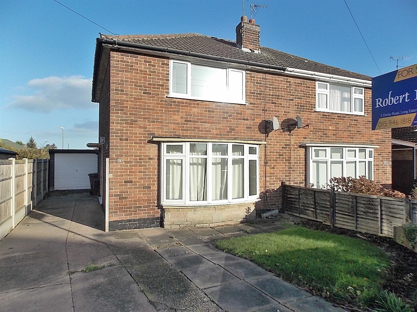 2 Bedrooms Semi Detached House for sale in Milldale Road, Long Eaton